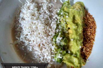Oat Brokoli Saus Alpukat Tabur Keju dan Bubuk Tempe untuk Bayi