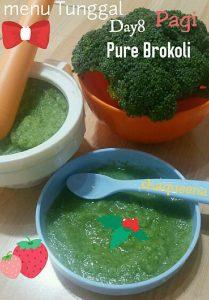 Resep menu tunggal bayi pure brokoli yang lezat