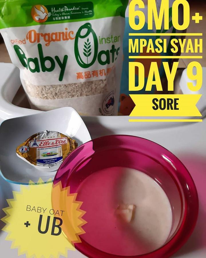 Menu Tunggal MPASI Puree OAT untuk Bayi umur 6 Bulan Day 9 (Sore)